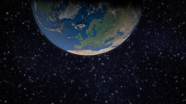 Earth, Europe, Space, Globe, Continents, 3d Model