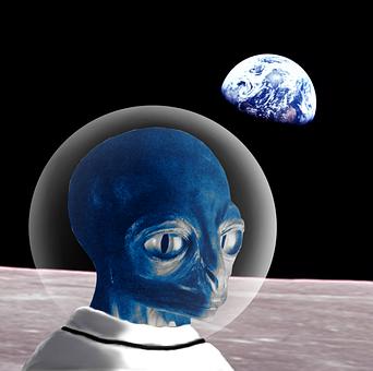 Alien, Moon, Space, Science, Cosmic, Earth, Fiction