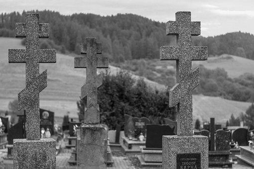 Cemetery, Orthodox Cross, Tombstone, Crosses