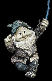 Garden Gnome, Dwarf, Imp, Hanging, Fabric, Funny
