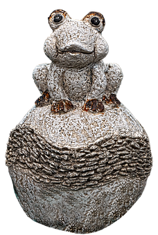Frog, Figure, Ball, Sculpture, Stone Figure, Artwork