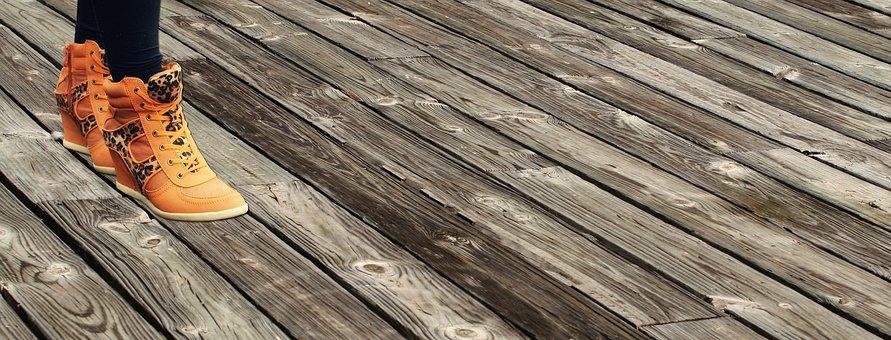Feet, Walking, Floorboards, Wood, Wooden, Foot, Walk