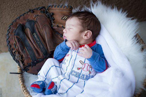 Newborn, Baseball, Glove, Adorable, Daddy's Boy, Boy