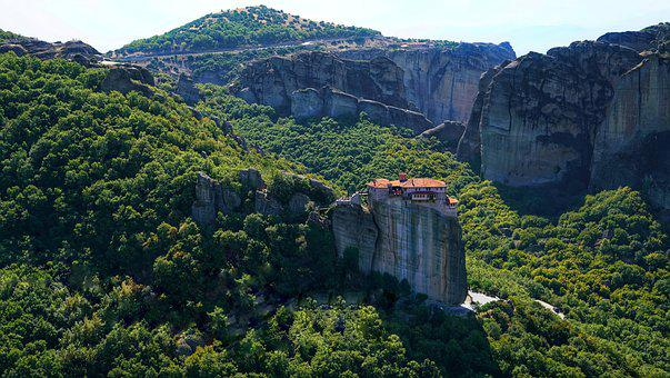 Meteora, Greece, Monastery, Rocks, Spectacular, Greek