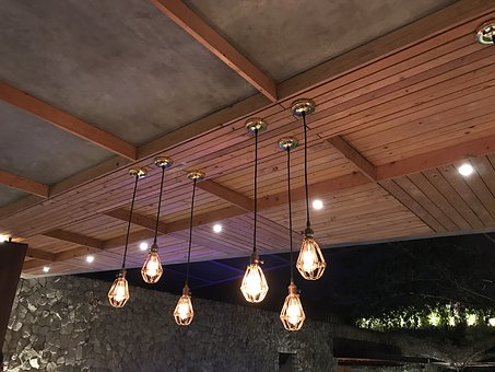 Lamp, Wood, Cabin, Indoors, Light, Architecture