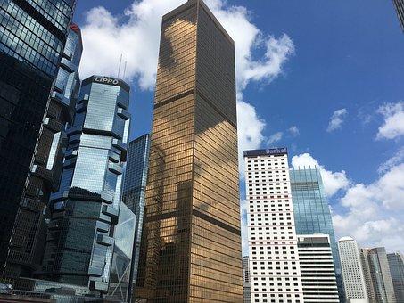 Skyscrapers, Hong Kong, Modern Buildings