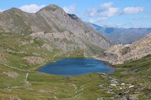 Lake, Mountain, Nature, Hiking, Landscape, Queyras