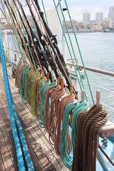 Sailboat, Tall Ship, Sails, Sea, Navigation, Rope