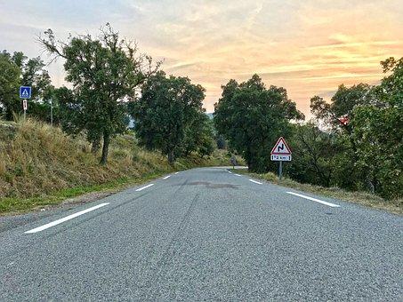Road, Away, Route, Saint Tropez, France, Mediterranean