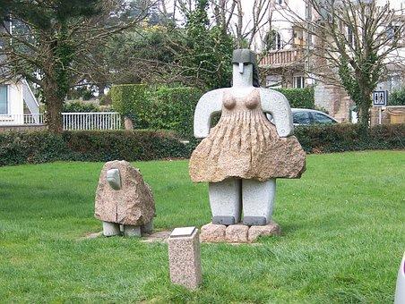 Sculpture, Pierre, Granite, Statue