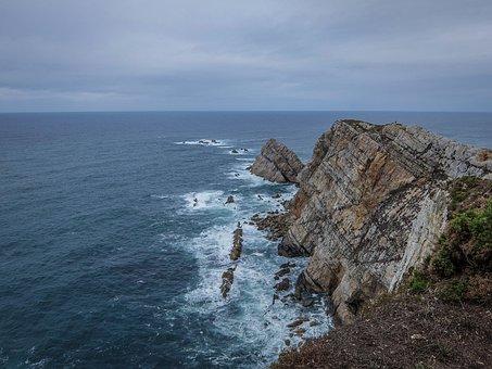 Asturias, Ocean, Rocks, Sea, Spain, Coast, Nature