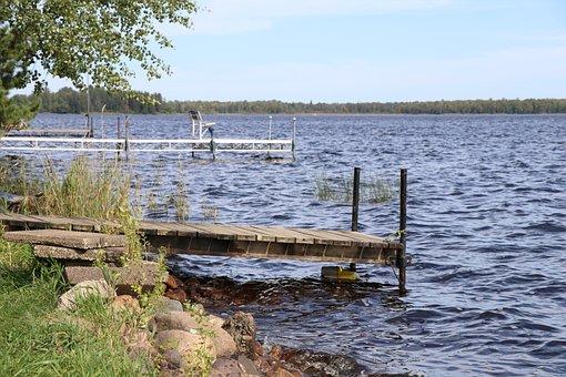 Dock, Lake, Autumn, Pier, Shore, Minnesota, Fall