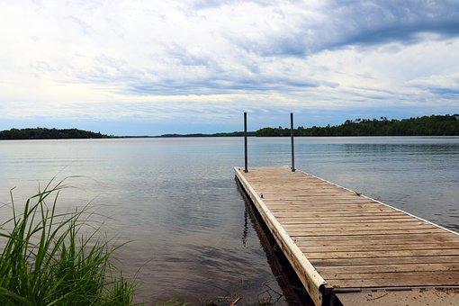 Dock, Pier, Summer, Lake, Shore, Sky, Blue, Water