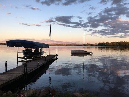 Lake Sunset, Sailboat, Sunset, Lake, Water, Boat, Sky