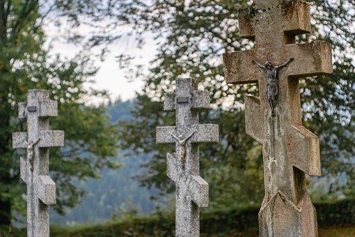 Orthodox Cross, Stone Cross, Crosses, Tombstone