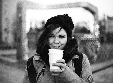 Winter, Girl, Drinking, Hot, Tea, Wine, Mulled