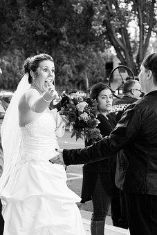 Bride, Woman, Happy, Wedding, White, Dress, Female
