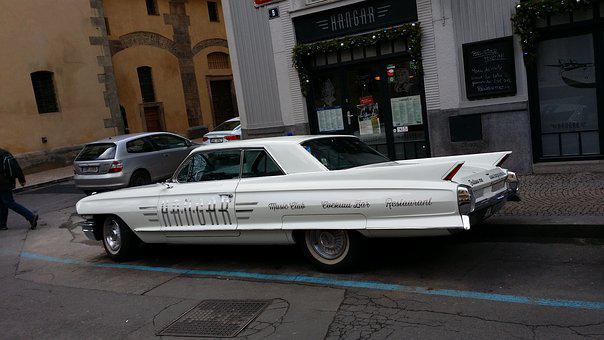 Car, Retro, American