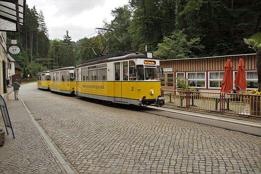 The Tram, Bad Schandau, Spa Town, Tourist Attraction