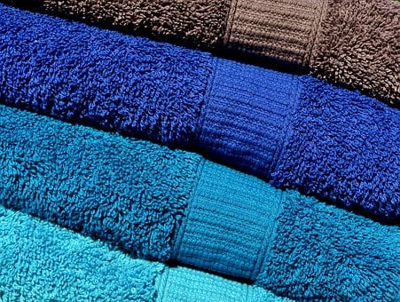 Towels, Blue, Turquoise, Grey, Colorful, Structure