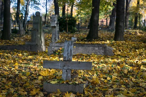 Cemetery, Old, Tombstone, The Tomb Of, Cross, Wooden