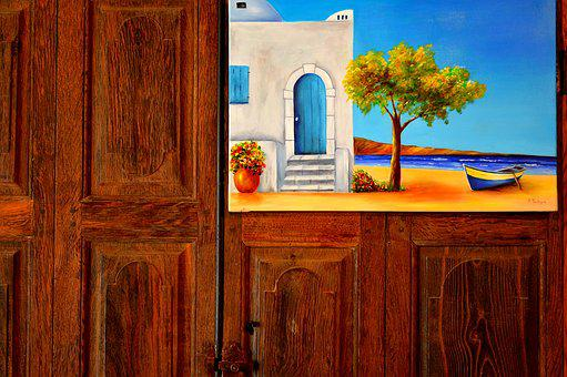 Table, Perspective, Support, Door, Painting, Color