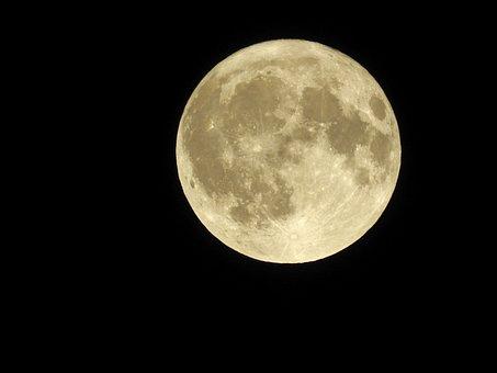 Moon, Night, Full Moon, Night Photograph, Luna