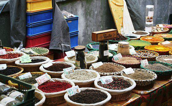 Spices At Market, Market Spices, Spice, Cuisine