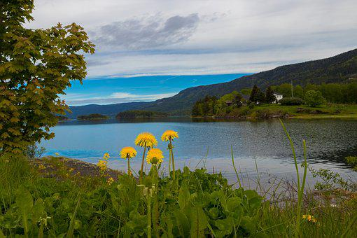 Norway, View, Landscape, Nature, Mountains, Clouds