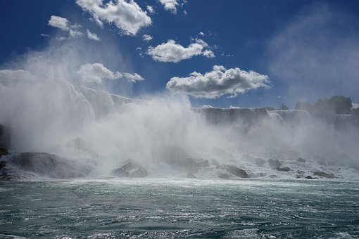 Niagara Falls, Waterfall, Water Power, Canada, Niagara