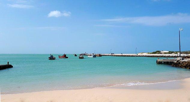 Boats, Jetty, Water, Travel, Sea, Sky, Ocean, Landscape
