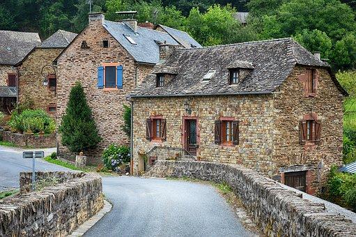 Old Village, Old House, Old Houses, France, Village