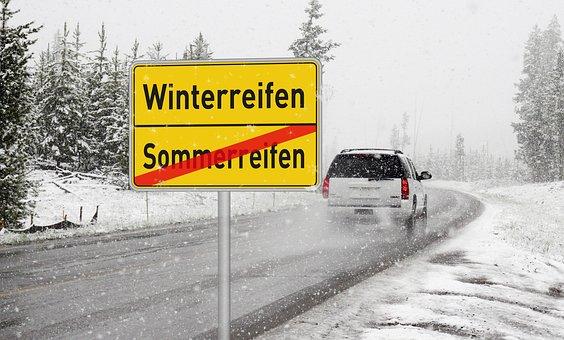 Winter Tires, Summer Tires, Winter, Road, Auto