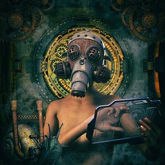 Steampunk, Scientists, Science Fiction, Snail, Dark