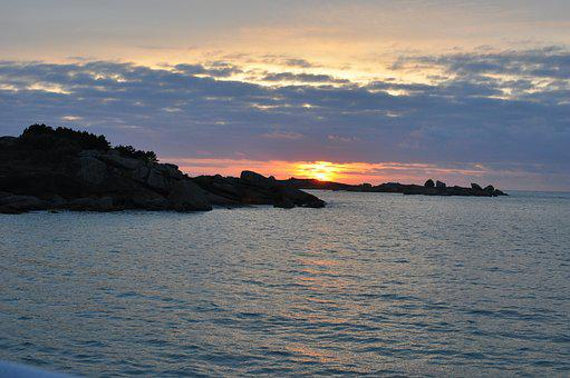 Pink Granite Coast, Sunset, France