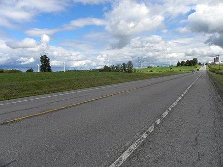 Road, Travel, Windmill, Highway, Journey, Street