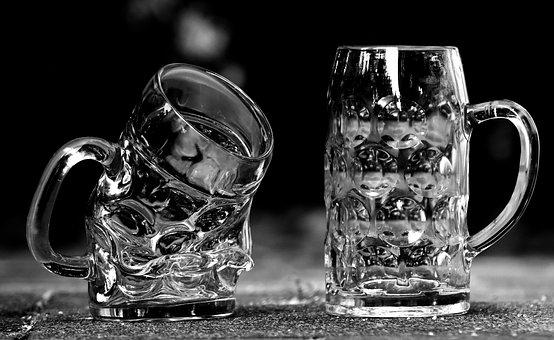 Beer Mugs, Deformed, Glass, Beer Glass, Beer Mug, Funny