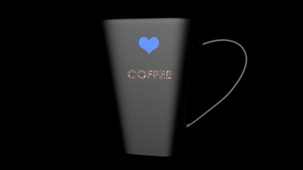 Tea, Cup, 3d