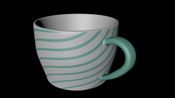 Cup No Light, 3d, Cgi