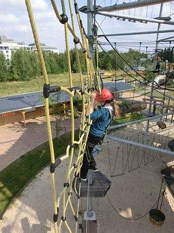 Sport, Climb, Cable Construction, Ropes, Mesh, Drex