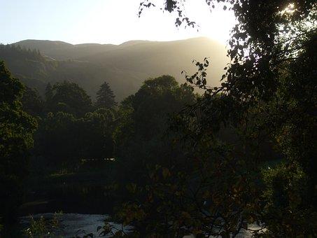 Morning, Sunrise, Water, Garden, Sun, Nature, Green