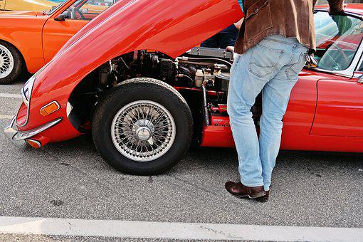 Jaguar, E Type, Oldtimer, Lifestyle, Old Fashioned Car