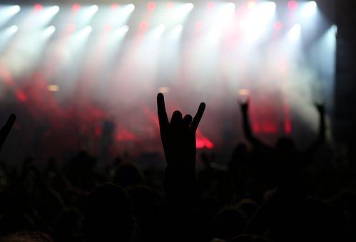 Rock, Metal, Concert, Gesture, Finger, Characters