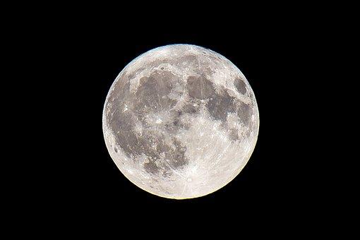 Moon, Full Moon, Maan, Full, Night, Sky, Light
