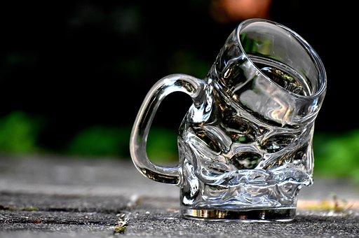Mug, Deformed, Bent, Glass, Beer Glass, Beer Mug, Funny