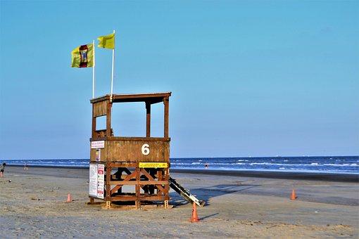 Life Guard, Ocean Line, Tide, Water, Ocean, Guard, Life