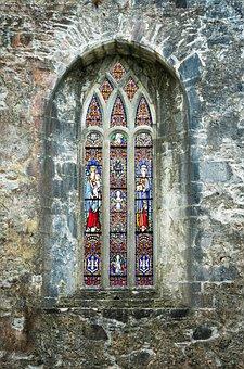 Window, Church, Old, Facade, Church Window, Old Window
