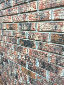 Brick, Wall, Red, Black, Texture, Brickwork, Building