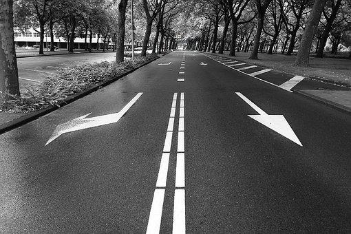 Road, Arrow, Marker, Road Marker, Pointer, Sign