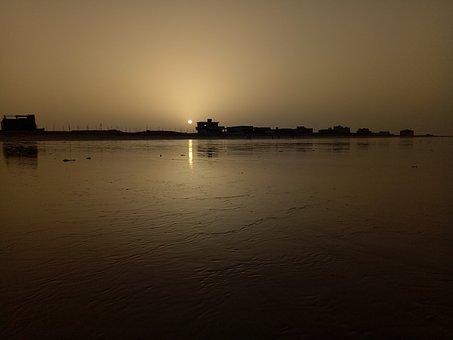 Sunrise, Beach, Dawn, Nature, Scenery, Hawksbay